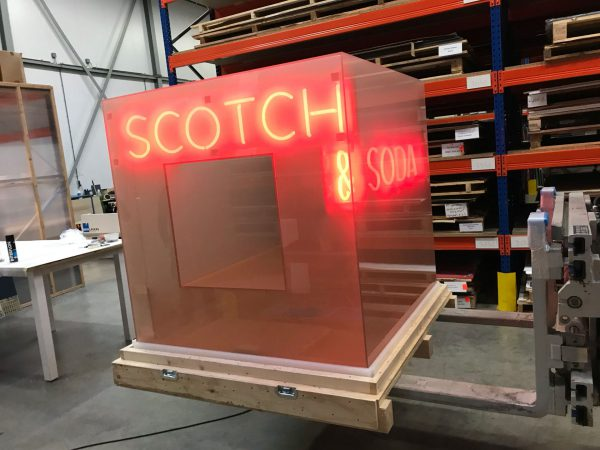 Custom plexiglas Scotch Soda