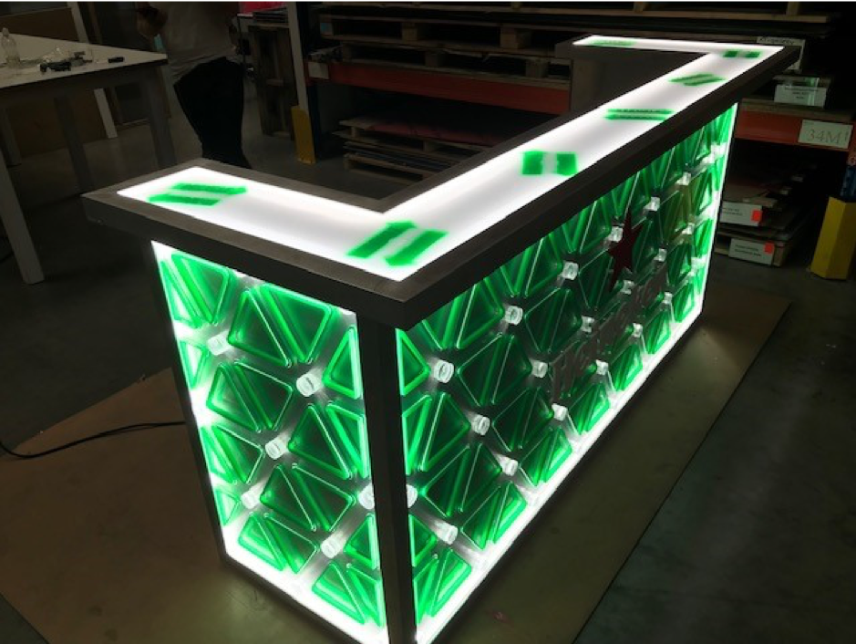 Heineken Bar PMMA acrylaat