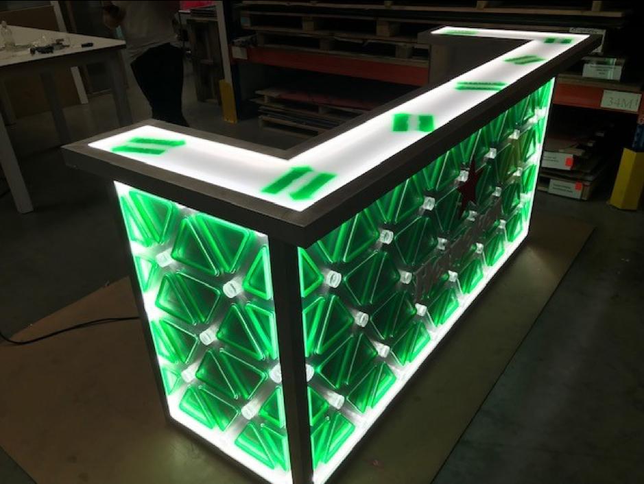 Heineken Bar acrylaat