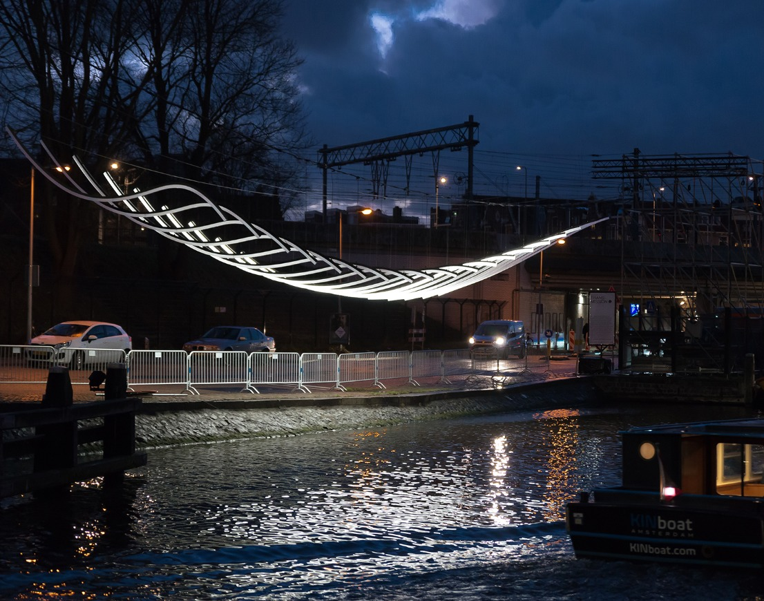 Transmission by Serge Schoemaker Architects Amsterdam Light Festival